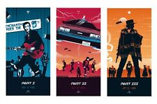 BACK TO THE FUTURE 80'S MOVIE 3 SPLIT PANELS WALL ART CANVAS PICTURE PRINTS