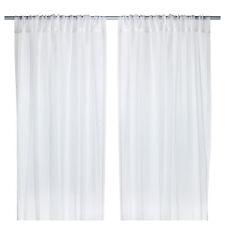 1 X Par de cortinas blancas de Ikea TERESIA puro (145x250cm cada uno)