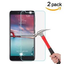 2 Pack Premium Tempered Glass Screen Protector for ZTE ZMax Pro Z981 / ZTE Carry