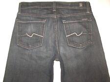 7 For All Mankind Niños Relajado Jeans Sz 12 Azul Oscuro/Negro Envejecido Nuevo