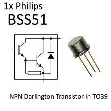 1x BSS51 NPN Darlington Transistor TO-39 NOS 1A TO39