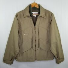 Columbia Mens Shooting Jacket Size M Quilted Shoulder Hunting Range Gun Lined