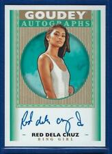 Red Dela Cruz 2019 UD Goodwin Champions Goudey Signature UFC Ring Girl AUTO