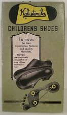 Kalisteniks Vintage 1940's Children's Shoe Box Only Army Green Yellow Cool!