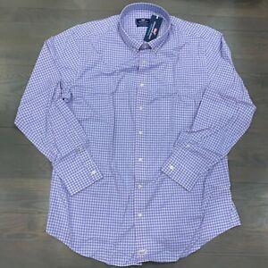 Vineyard Vines Performance Classic Murray Purple Plaid Shirt Size 4XB 4XL Big