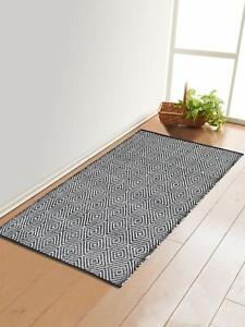 Geometric Pattern 1Pc Multi Purpose Floor Rug Made Of Soft Cotton (70X145 Cm)