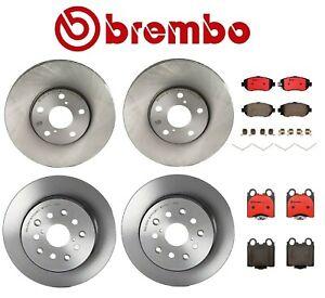Front Rear Brembo Brake Disc Rotors Ceramic Pads Kit For Lexus GS430 IS300 SC430