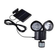 Helle LED Solarlampe mit Bewegungsmelder Solarleuchte Wandleuchte Solarstrahler