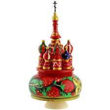 Boite à musique Cathédrale St Basile de Moscou - Boite à musique Russe en bois