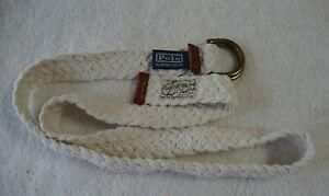 Polo Ralph Lauren Braided Double D Ring Belt L?