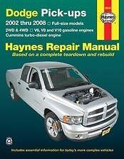 Dodge Truck gas Cummins Diesel Repair Manual 02-08 Owners book Service