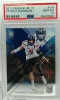 Patrick Mahomes 2017 Panini Elite DP # 154 PSA 10 Gem Mint Super hot rookie  $$$