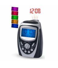 Precision Radio Controlled 7 Colour LCD Display Alarm Clock Silver PREC0094 New