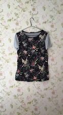 Women's Top Floral Silk Blouse By OASIS Size S.
