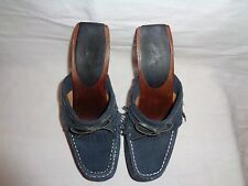 FRYE WOMEN'S LACEY BLUE FRINGED CASUAL CLOG.