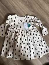 Girls 9-12 Month Eckru Mix Cream Spot Cotton Dress Marks And Spencer
