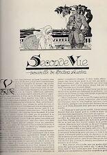 Coupure de presse Seconde Vue, nouvelle de F. Britten Austin 1923  Felix Lorioux