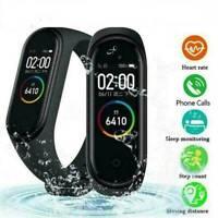 M4 Smart Watch Band Blood Pressure Monitor Tracker Fitness Heart Rate Wristband