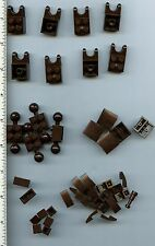 LEGO x 44 Dark Brown Slope Brick Tile Pieces NEW mixed lot