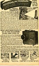 1950 small Print Ad of Keystone Pictograph Picture Projector
