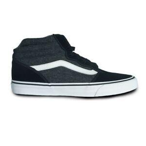 Vans Unisex Milton Hi Textile Black White Shoes Lace Up Hi Top SIZE UK 9, UK 9.5
