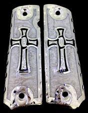 1911 CROSS GUN GRIPS CRUZ FITS SPRINGFIELD COLT SUPER  KIMBER ROCKISLAND CACHAS
