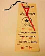 1975 NFL FOOTBALL PRESS PASS VERY RARE DALLAS COWBOYS VS KANSAS CITY CHIEFS