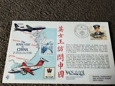 More details for raf ac 28 royal visit to china flown heathrow to peking canton hong kong signed