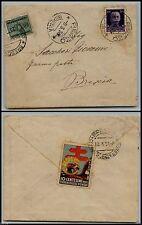 REGNO-FERMO POSTA-Busta Rezzo x Brescia 8.3.1937-50 c(251)+Tassata in arrivo 25c