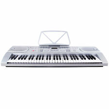 Suncoo Silver 61 Key Music Electronic Keyboard Digital Piano Organ w/Microphone