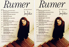 2 X RUMER TOUR FLYERS - SEASONS OF MY SOUL 2011 TOUR