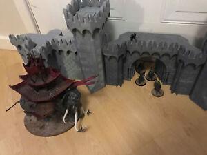 CC3D - Castle Wall Set - Wargames Miniatures Scenery Medieval 28mm 15mm