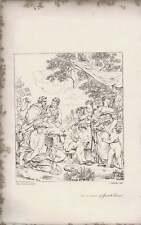 1835 Engraved Artwork Reconciliation Of Jacob And Laban Busby  ~ Sands / P de Co