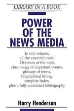 NEW - Power of the News Media (Library in a Book) by Henderson, Harry