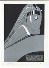 VINTAGE TRAIN BOHNALITE PISTON HEADS ENGINE LOCOMOTIVE AD PRINT SILVER VARIANT