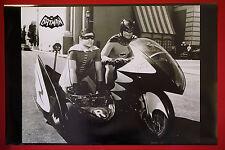 Batman & Robin Bat Motorcycle Adam West Burt Ward Tv Movie Film Poster 24X36 Oop