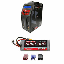 Venom 30C 2S 5000mAh 7.4V Sport Power LiPo Battery and Pro Duo Charger Combo