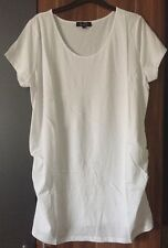 NEW LOOK MATERNITY White top/T-shirt Elasticated Sides Size 12