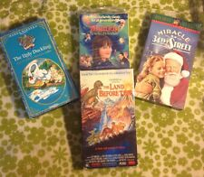 ⭐️ Lot Of 4 ⭐️Children VHS Tape Matilda/Ugly Duckling/Land Before Time/Miracle..