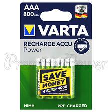 4X VARTA AAA 800mAh Baterías Recargable NI-MH 1.2V HR03 Micro 56703 Accu