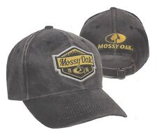 Mossy Oak Black 1986 Licensed Embroidered Patches Casual Hunting Hat