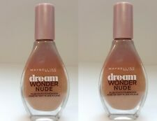 2x Maybelline Dream Wonder Nude Foundation Make Up 40 Fawn Cannelle