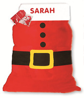 PERSONALISED ANY NAME CHRISTMAS SANTA SACK STOCKING XMAS GIFT BOY OR GIRL XSSPER