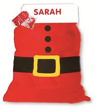 PERSONALISED ANY NAME CHRISTMAS SANTA SACK STOCKING XMAS GIFT BOY OR GIRL XSSPER