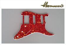 US Stratocaster Pickguard Fräsungen SSH, Red Tortoise, 11 Lochbohrungen
