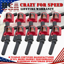 10 Pack Ignition Coils For Ford F150 F250 F350 4.6L 5.4L V8 & 6.8L V10 DG508