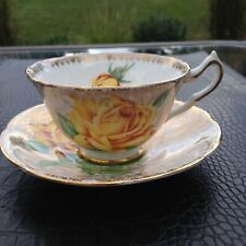 COLLINGWOODS LARGE YELLOW ROSE GOLD CHINZ TEACUP REDUCED SHIPPING