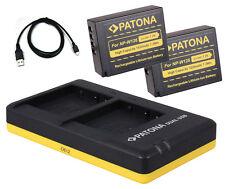 2 x Patona Akku + Dual-Ladegerät Fuji-Film X-H1, X-T1, X-T2, X-T10 - NP-W126-S