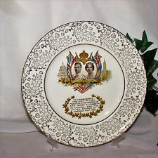 KING GEORGE QUEEN ELIZABETH PLATE ROYAL VISIT TO CANADA MAY 1939 H & K TUNSTALL