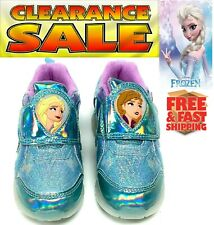 GIRLS toddler SNEAKERS LIGHT UP SHOES DISNEY FROZEN 2 FASHION Size7,8,9,10,11,12